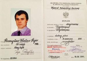 Dyplomowany fizjoterapeuta Przemyslaw Pajor Bochnia Stary Sączz